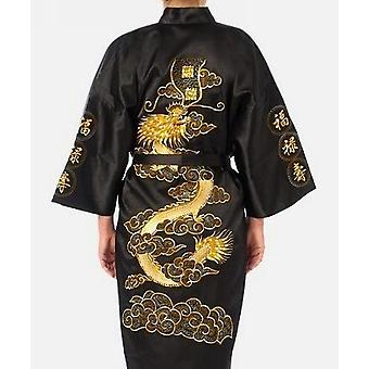Stickerei Kimono Bad Kleid Drachen Größe