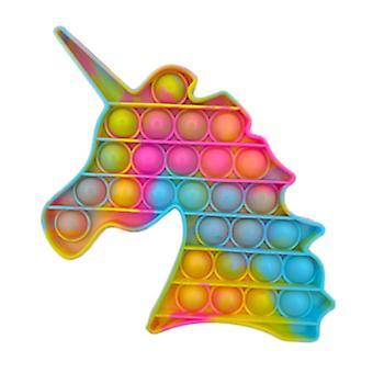 Stuff Certified® Pop It - Pesty Fidget Anti Stress Lelu Kupla Lelu Silikoni Yksisarvinen Keltainen-Vaaleanpunainen-Sininen