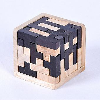 3d Wooden Cube Puzzle Ming Luban Interlocking Educational For (a)