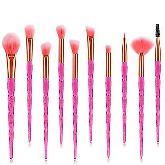 Makeup brushes set 10 pieces professional beauty make up brush pink hzs-32
