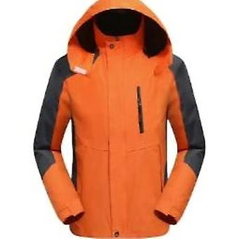 Thick Warm Outdoor Ski Suit, Down Feather Cotton-padded Hiking Hoody