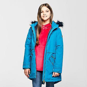 New Regatta Girls' Waterproof Hornia Parka Jacket Blue