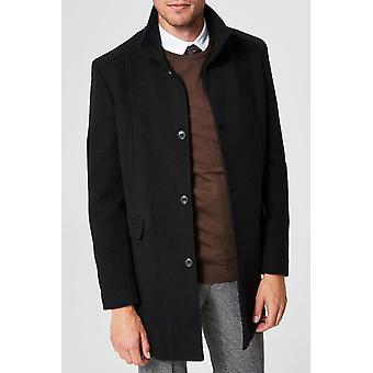Wool coat cut cut