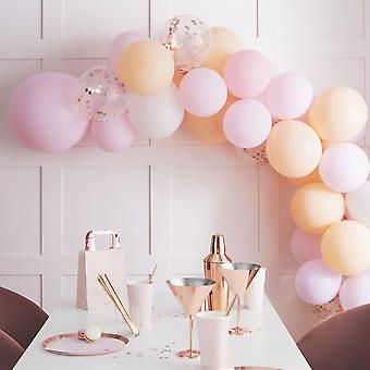 Pink Pastel Peach Balloon Arch Garland Kit Party Decoration 60 Balloons