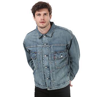Herren Levis Modern Type Trucker Jacke in blau