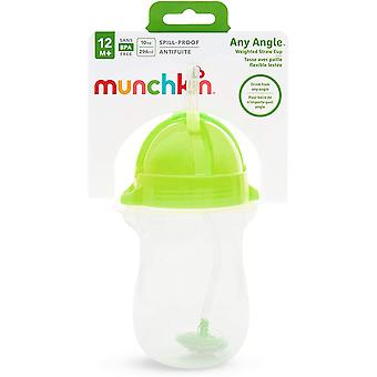 Munchkin Weighted Flexi-Straw Cup 10oz Green