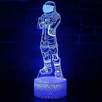 3D illusjon lampe 7 farger optisk endring touch lys USB og fjernkontroll art deco gjøre en romantisk atmosfære christmas valentine bursdag gave -fortnite # 17