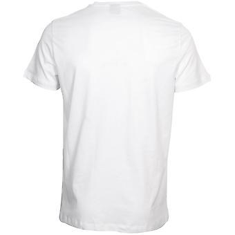 BOSS Luxe Cotton 24 Crew-Neck T-Shirt, Bianco/navy