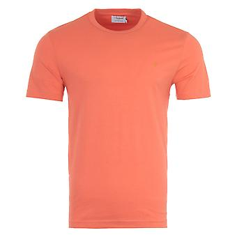 Farah Danny Organic Cotton Slim Fit T-Shirt - Coral