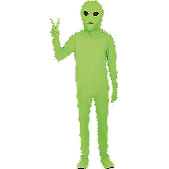 Orion mens grön Alien utrymme Body Suit Halloween fancy Dress kostym Jumpsuit