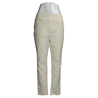 DG2 Di Diane Gilman Jeans Donna Stretch Comfort Vita Magro Avorio 733923