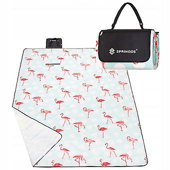 Picnic tæppe 200 x 240 cm mynte grøn Flamingo