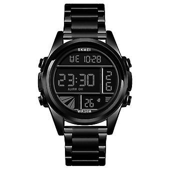 Sport Männer Uhren Luxus Gold Digital Armbanduhr (Schwarz)