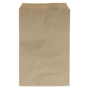 أكياس هدية ورقية، للمجوهرات والحرف اليدوية 9 × 6 بوصات، كرافت براون، 100 قطعة