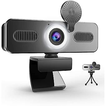 FengChun A9C Webcam mit Ringlicht, FHD 1080P Webcam mit Mikrofon und Streaming Webcam, Plug Play
