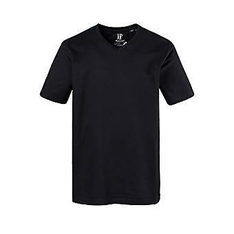 JP 1880 T-Shirt 1/2 V-Ausschnitt, Black (Schwarz 10), XXXXL Men's