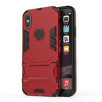 Shockproof case for iphone se2 with kickstand red pc5047