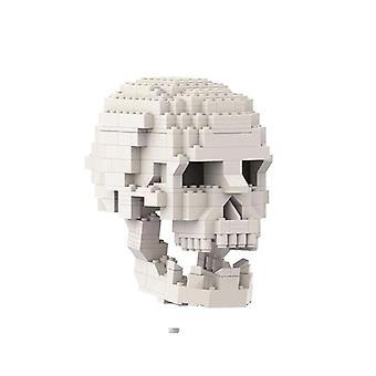 Skeleton Building Model DIY Assembly Toy Szkoła Edukacyjna Dla Odważnych Dzieci Kid Gift| Bloki(biały)