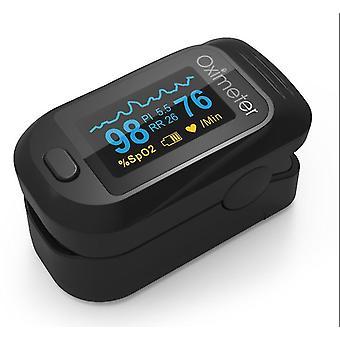 أسود معدل ضربات القلب رصد الإصبع oximeter az7227
