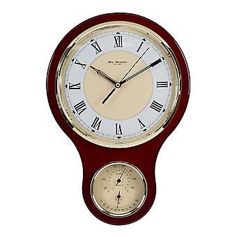 Wm. Widdop Holzuhr, Barometer & Hygrometer