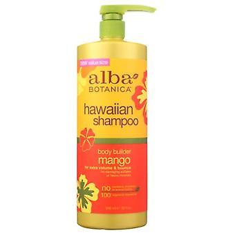 Alba Botanica Hawaiian Shampoo, Mango Body Builder 32 Oz