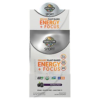 Garden of Life Sport Orgaaninen kasvipohjainen energia Plus Focus Pre-Workout, Blackberry 12 Count