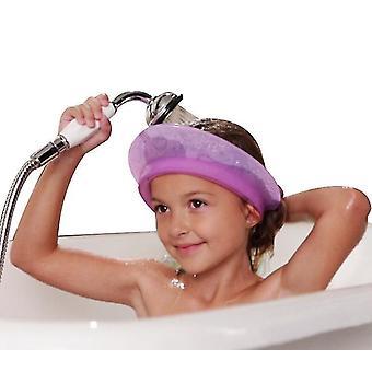 Baby Shower Cap Bathing Cap Adjustable Visor Hat Safe Shampoo Shower Bathing(PURPLE)