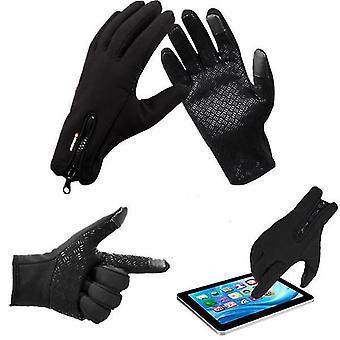 Winter Sports Bike Skiing Touch Screen Windproof Fleece Gloves
