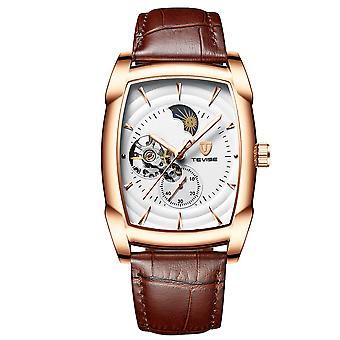 Business Man Automatic Mechanical Watch Fashion Casual Leather Strap