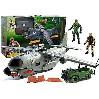 Militärt leksaksplan med tillbehör