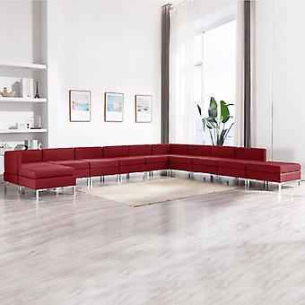 vidaXL 11 kpl. Sohvasentti kangasviini punainen