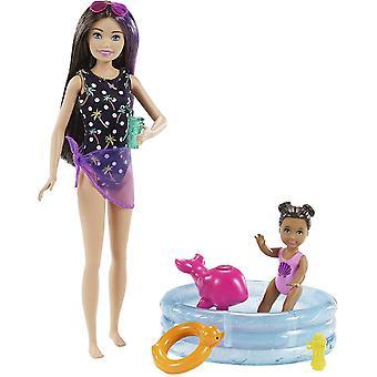 Barbie Niñera Piscina y Juego para Niños Pequeños