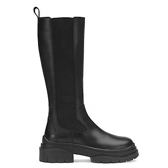 Ash STONE Chelsea Black Leather Boots