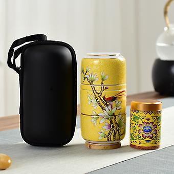 Creative Portable Travel Ceramic Tea Set Kung Fu Teaware Set Porcelain One Pot Two Cup Gift Set