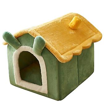 Winter warm small dog bed