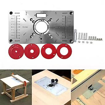 Multifunctional Router Table Insert Plate Woodworking Benches Aluminium Wood Router Trimmer Models Engraving Machine Tools Diy