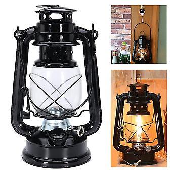 IPRee Retro Oil Lantern Outdoor Garden Camp Kerosene Paraffin Portable Hanging Lamp