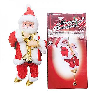 Electric Climbing Bead Curtain Climbing Stairs Santa Claus Toy Climbing Beads Christmas Window Decorations Christmas Gifts
