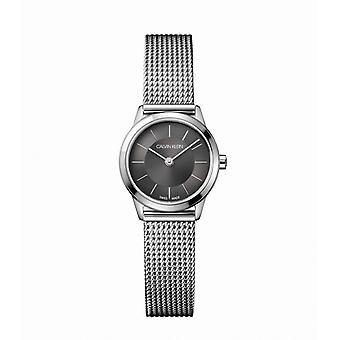 Montre femme Calvin Klein Montres MINIMAL PO LY SST PO MESH DARK GRE DIAL - K3M23124 Bracelet Aluminium