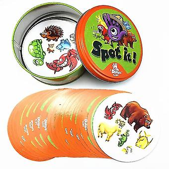 Card games 8+ dobble spot it cards game with animals  alphabets and numbers animal jr