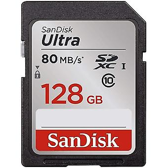 Usb adapters sandisk sdsdunc-128g-gzfin ultra sdxc memory card up to 80 mb/s  class 10  u1 ffp  128 gb