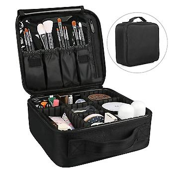 Cosmetic toiletry bags black travel portable storage bag multifunctional multi-layer cosmetic case 26.5Cm*22cm*12cm