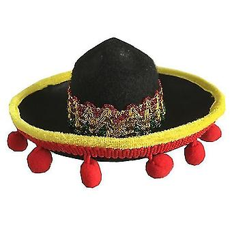 Mini pet dog sun hat beach party straw hat dog mexican style hat for dogs and cats fun straw
