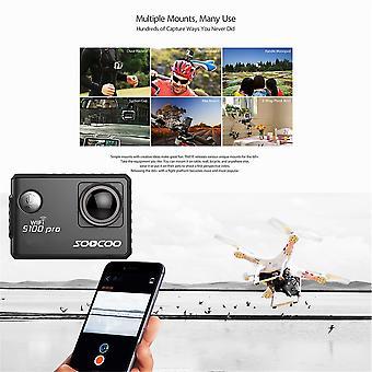 スークー音声コントロール S100pro アクションカメラ Wifi 4k Hd 2.0 タッチスクリーンカメラ