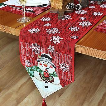 מפת שולחן קישוטי חג המולד מפת סנטה עץ מודפס שולחן חג המולד74 X 13in