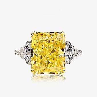Women's Engagment Favor Yellow Zircon Silver Ring