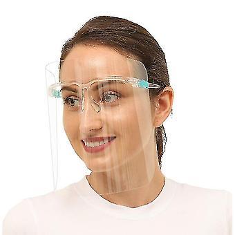 Viseira protetora transparente unissex, moldura de óculos e conjunto de lentes