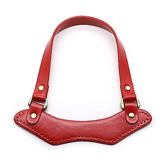 Fashion Pu Leather Handbag Top Handle Strap For Diy Handmade Woven Bag Accessories