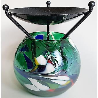 D & J produtos vidreiros globo do queimador de derreter verde-esmeralda