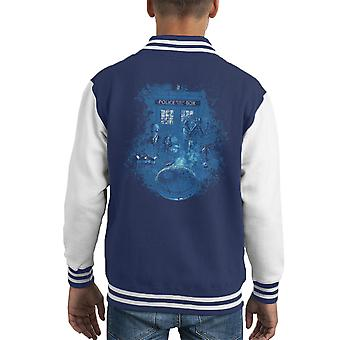 Life Of The Doctor Who Kid's Varsity Jacket
